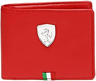 GWD Puma Ferrari Men's Wallet Comfortable for All Cross RED) (Original Products Selling by only Seller : GWD Trade) #3 (RED)