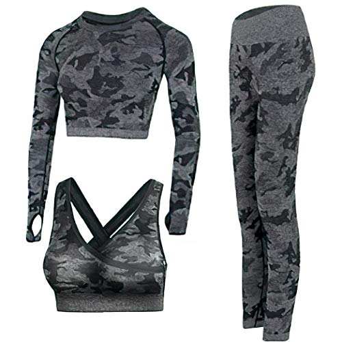yoga outfits for women 3 piece set