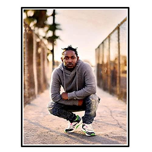 GUICAI Kendrick Lamar-Hip Hop Artista de grabación Rapero Música Póster Imagen Telón de Fondo Decoración de la Pared Decoración de la Sala de Estar del hogar -50X70 cm Sin Marco 1 Uds