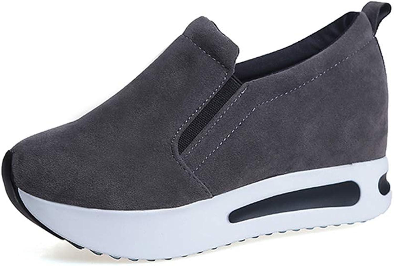 Hoxekle Women Casual shoes Wedge Platform Elastic Spring Autumn Increasing Ladies Sneakers Female Walking shoes