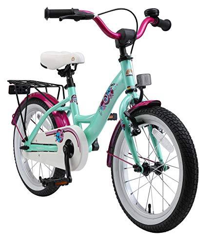 BIKESTAR Kinderfahrrad für Mädchen ab 4-5 Jahre | 16 Zoll Kinderrad Classic | Fahrrad für Kinder Mint | Risikofrei Testen
