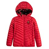 QLZ Boys Reversible Camouflage Puffer Jacket with Hooded Coat,Red,8