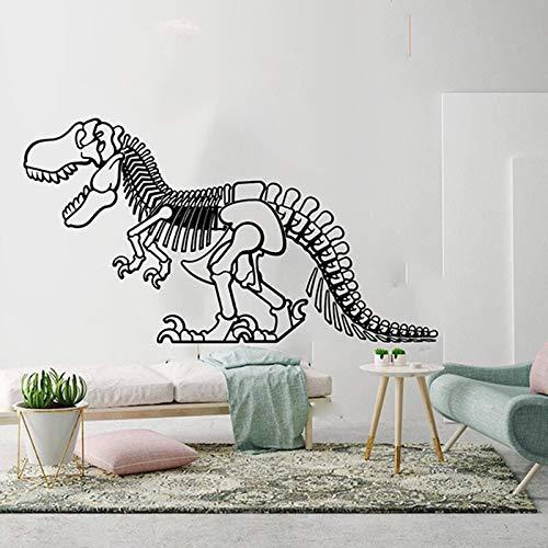 Quszpm Pegatinas de Pared de Dinosaurio geométricas para habitación de niños, Pegatinas de Pared de Dinosaurio de Dibujos Animados para guardería, Dormitorio, habitación de niños, 105 cm x 57 cm