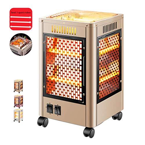 QNQ LTABC kupévärmare elektrisk uppvärmning bärbar liten med snabbuppvärmning kvartsrörsuppvärmning BBQ + värme 360° uppvärmning med separat strömbrytare elektrisk uppvärmning grillloft