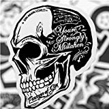 ZFHH 50pcs/Set Cool Black White Rock Music Band Stickers Retro Sticker DIY Skateboard Luggage Laptop Car Motorcycle Decal Classic Toy
