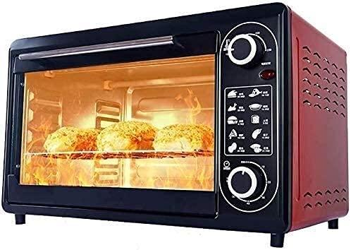 Horno multifunción 48L,Ajuste Temperatura 100-250 ℃ y Temporizador 60 Minutos Horno eléctrico para Hornear en el hogar Horno Tostador encimera.