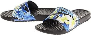 Women's Benassi JDI Print Slide Sandals (11 B(M) US, Blk/Wht/Gm RYL/L Grn)