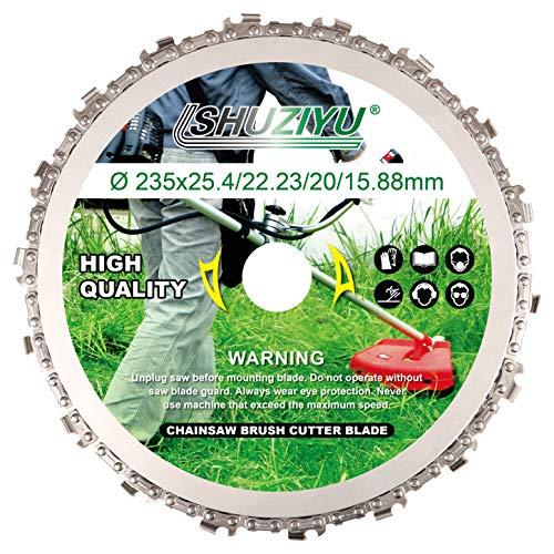 LSHUZIYU, Dente per Motosega Circolare, 235mm, Foro Centrale 25.4mm con Rondella 22.23-20-16mm, Lama per Decespugliatore, Disco per Decespugliatore.