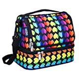 Wildkin Kids Two Compartment Insulated Lunch Bag for Boys and Girls, Perfect Size for Packing Hot or Cold Snacks for School and Travel, Lunch Bags Measures 9 x 8 x 6 Inches, BPA-free (Rainbow Hearts) lunch bags teens Oct, 2020