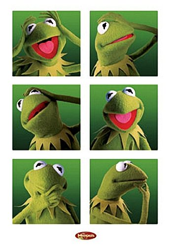 Muppets Poster–Funny Kermit Collage–New Hot 24x 36