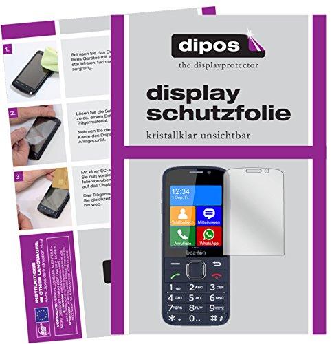 dipos I 2X Schutzfolie klar kompatibel mit bea-fon SL820 Folie Bildschirmschutzfolie