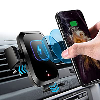 Amazon - 70% Off on Wireless Car Charger Mount with Touch Sensor Automatic Phone Clamp