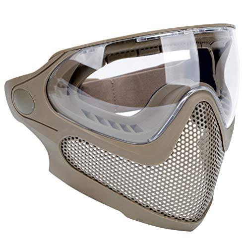 Abaodam Máscara de combate de modo dual para juegos al aire libre, máscara protectora de acero, máscara de juego unisex para hombre y mujer (color suelo)