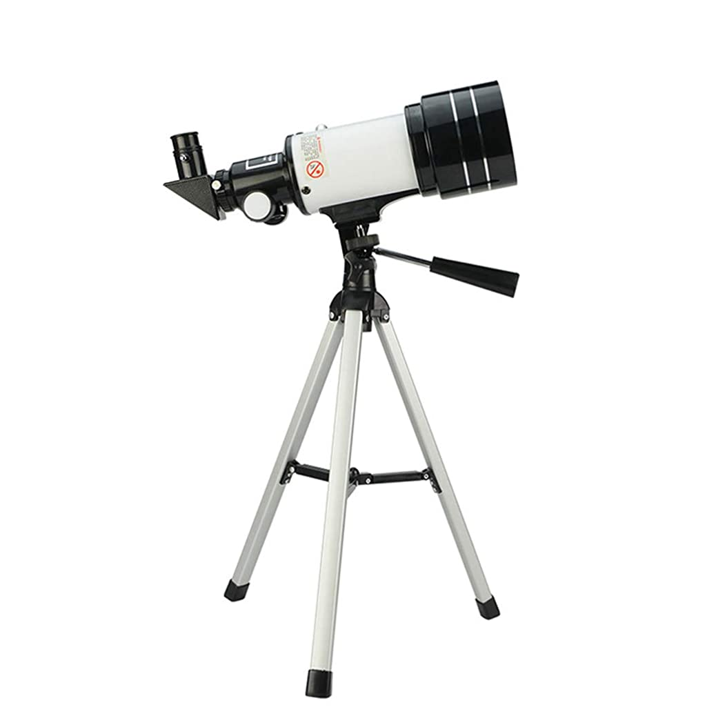 砂のサイレント購入ポータブルAファインダースコープを持つ大人のための旅行望遠鏡、70ミリメートル口径300ミリメートルAZマウント天文屈折、完全コーティングガラスオプティクス
