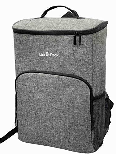 Carrotpack Mochila térmica aislada, impermeable, ligera, suave, a prueba de fugas, mochila grande para hombres y mujeres, camping, picnic, viajes, parque