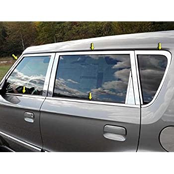 QAA fits 2011-2016 Kia Sportage 12 Piece Stainless Window Trim Package Includes Upper Trim and Pillar Posts NO Window Sills WP11835