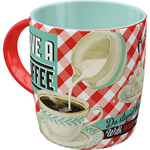 Nostalgic-Art Retro Kaffee-Becher - Say it 50's - Have A Coffee, Lustige große Retro Tasse mit Spruch, Geschenk-Idee für Vintage-Fans, 330 ml