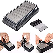 Double-Sided Diamond Sharpening Plate,400/1000 Grit Knife Sharpener Stone, 150x63mm Honeycomb Surface Outdoor Kitchen Grinding Tool-Kalolary