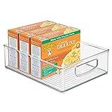 iDesign Aufbewahrungsbox für die Küche, großer Küchen Organizer aus Kunststoff, offene...