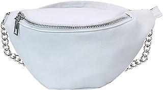 Shoulder Bags for Women, Faux Leather Crossbody Chest Pouch Waist Fanny Pack Travel Hip Bum Bag Black/White Colors Availab...