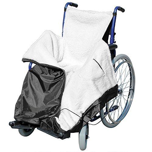 Wheelchair Cozy WRAP Waterproof Water Resistant Fleece Blanket Throw Travel CAR Lined Cosy Leg Cover