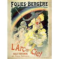 Cheret Folies-bergere Rainbow Show Advert Extra Large XL Wall Art Poster Print 雨見せる広告壁ポスター印刷