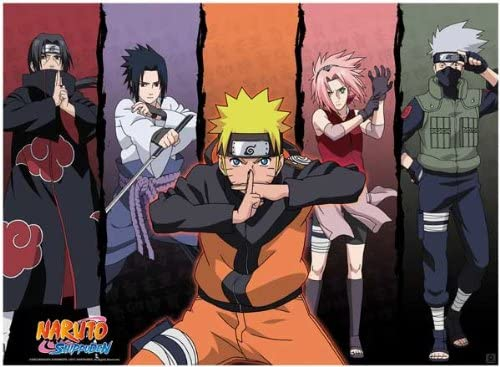 Amazon Com Abystyle Naruto Shippuden Poster Shippuden Group 1 Prints Posters Prints