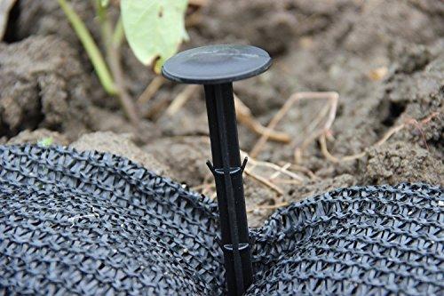 KINGLAKE 30 Pezzi 11 cm pioli di Fissaggio Giardino, piolo di Fissaggio in plastica, pioli in Tessuto erbaccia per Membrana Anti-erbaccia, Copertura del Terreno, Rete