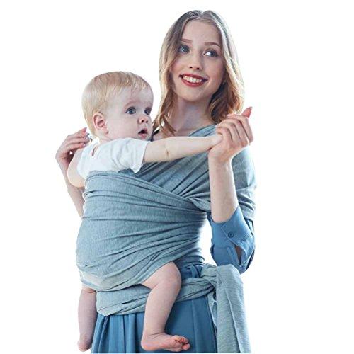 ✅ Premium Baby tragetuch Baby Wrap Carrier Anleitung L/ätzchen GRATIS Elastisches Tragetuch Neugeborene Farbe grau