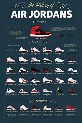 GZCJHP Michael Jordan Shoe Basketball Star Silk Or Canvas Poster Print for Room Decor