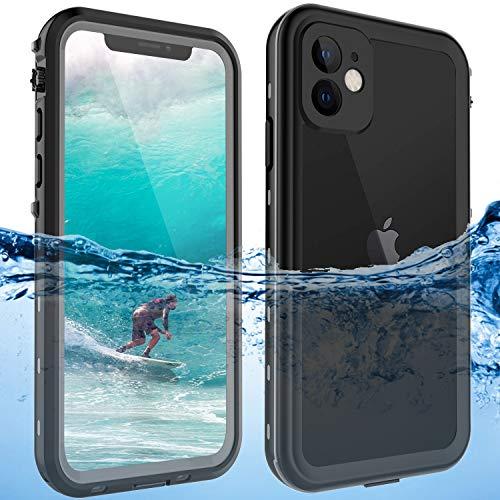 ShellBox Fundas Impermeables Original iPhone 11 bajo el Agua, Prueba de Vida, A Prueba de choques, A Prueba de Polvo, Cubierta Protectora de Cuerpo Completo de 360 ° Protector de teléfono, Negro