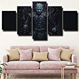 YFTNIPL 5 Leinwand Druck Kunst Poster Game Thrones Night