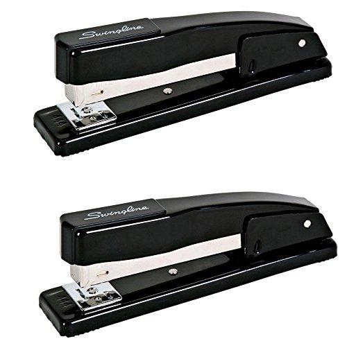 Swingline Commercial Desk Stapler, 20-Sheet Capacity, Black, Case of 2