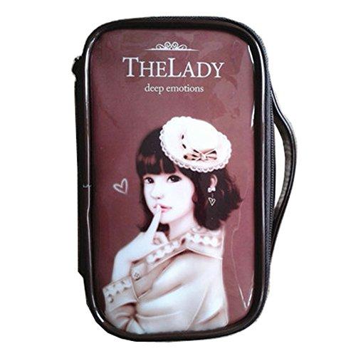 Mode étanche Cas de maquillage de Voyage sac cosmétique de toilette, café Hat