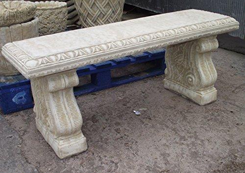 Diseño clásico banco de jardín de piedra en la parte superior recto: Amazon.es: Jardín