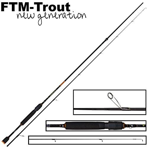 FTM Virus Spoon XP 9 2,13m 0-4,5g - Spinnrute zum Ultra Light Angeln auf Forelle, Forellenrute zum Blinkern, Angelrute für Spoons