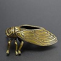 純銅黄色蝉小さなお茶ペットの装飾家の装飾