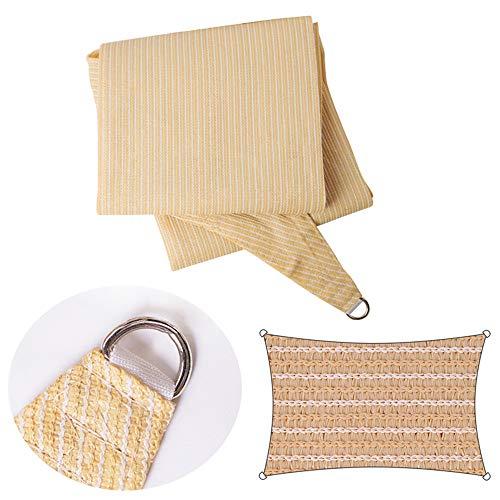 shade net - Toldo para sombra (90% de toldo rectangular, 3 x 4 m, para jardín, al aire libre, transpirable, 6 x 8 m, 2 x 3 m, protección UV