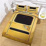 ROVZZC Funda de Edredón 200x200 cm 3D Bedding Set 3D Impresión Ideas De Salidas De Emergencia Amarillas Con Cremallera Microfibra Juego De Funda De Edredón +2 Fundas de Almohada Apto Adultos niños rev
