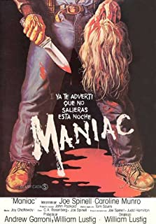 Maniac Movie Poster (27 x 40 Inches - 69cm x 102cm) (1980) Spanish -(Joe Spinell)(Caroline Munro)(Gail Lawrence)(Kelly Piper)