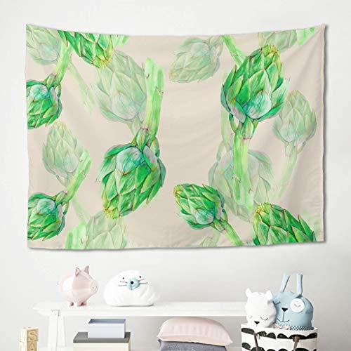 Niersensea Tapiz de pared para colgar en la pared, diseño de globo terráqueo verde, para picnic, meditación, yoga, mesa, sofá, dormitorio, decoración de pared, color blanco, 200 x 150 cm