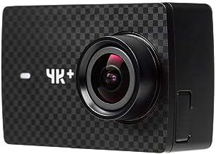 YI 4K+ Cámara Deportiva, Cámara de Acción con Resolución 4K/60fps, Pantalla Táctil, Batería 1200mAh, EIS, Live Stream, Voice Control - Negro