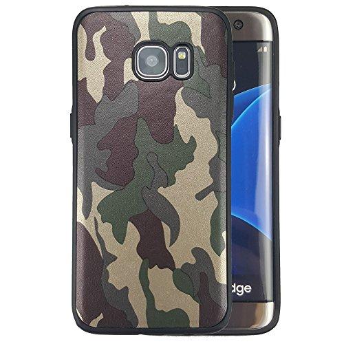 bagmaxx Smasung Galaxy S7 Edge G935 Handy Tasche TPU Case Flexi Camouflage Schutz Hülle Cover Tarn Muster