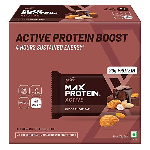 Active Choco Fudge Bars (Pack of 6 (75g x 6) (Standard))