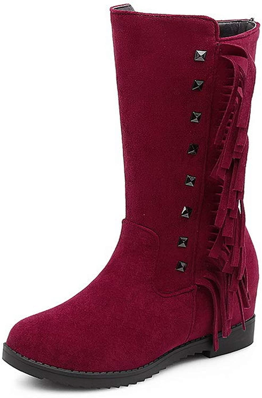 AdeeSu Womens Fringed Urethane Boots SXC02785