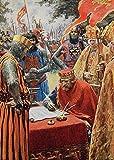 Heiwu Rompecabezas Puzzle 1000 Piezas Adultos Rompecabezas Carta Magna de Coronación del Desafío Cerebral Divertido Juego Familiar del hogar Regalo