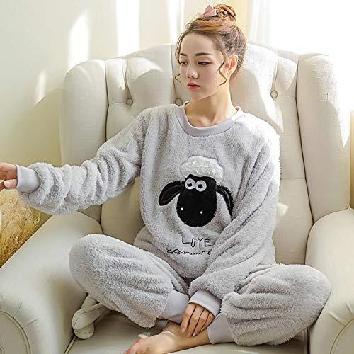 BLINGHG El Más Nuevo Pijama Engrosado De Invierno para Mujer Pijamas Lindos De Dibujos Animados Traje De Equipamiento para El Hogar Ropa para El Hogar Ropa De Ocio