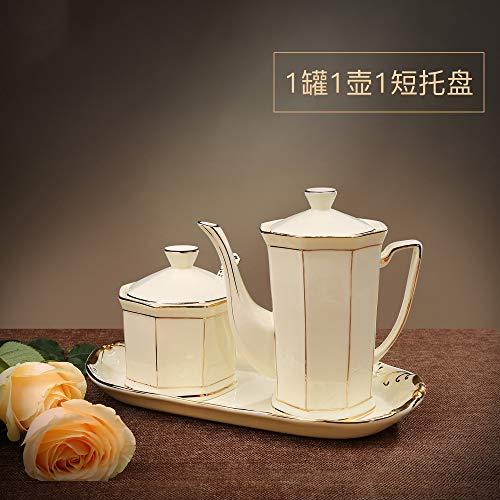 SGAN Set di barattoli per condimenti Domestici Scatola per condimenti in Ceramica Pentola per Olio Shaker per Sale Ciotola per Zucchero Forniture per Cucina,A3