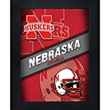 Nebraska Cornhuskers 3D Poster Wall Art Decor Framed Print   14.5x18.5   NU Lenticular Posters & Pictures   Gifts for Guys & Girls College Dorm Room   NCAA Huskers Fan Herbie Lil' Red Logo & Mascot