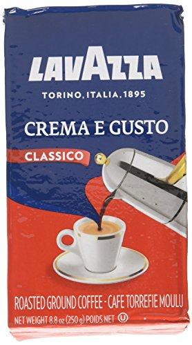 """Lavazza Italian """"Crema e Gusto"""" Ground Espresso (1 case = 20 x 8.8 oz bricks)"""